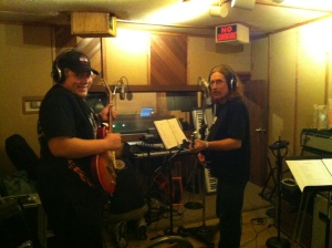 Conner and Dan in the Studio