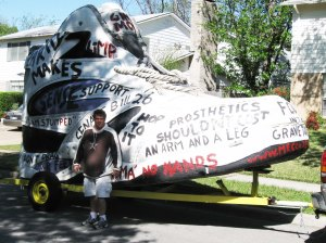 Randy and the Big Shoe for Amputee Advocacy