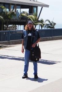 Dan at Santa Monica with Namba Bag