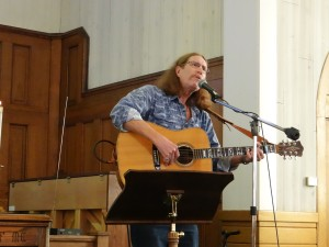Dan Roark playing in worship service 1-31-'16