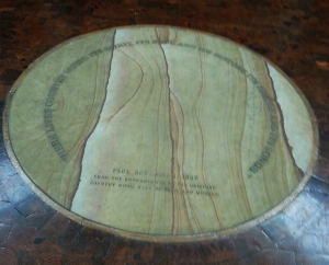 A piece of floor from the original Country Music Hall of Fame.