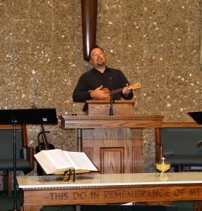 Joe Stobaugh on ukulele